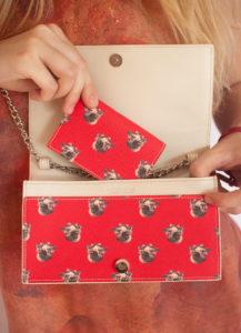 """Maialino"" woman's bag and card holder"