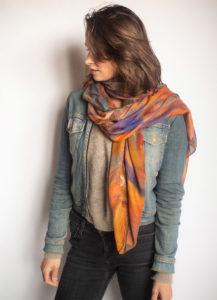 """""""Pennellate"""" women's foulard"""