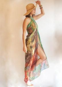 """""""Astratto"""" women's foulard pareo (sarong)"""