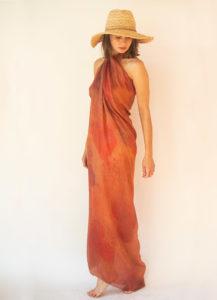 """Cuoricini"" women's foulard pareo (sarong)"