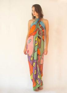 """Patate"" women's foulard pareo (sarong)"
